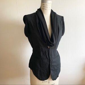 Rock & Republic - sleeveless blazer with scarf